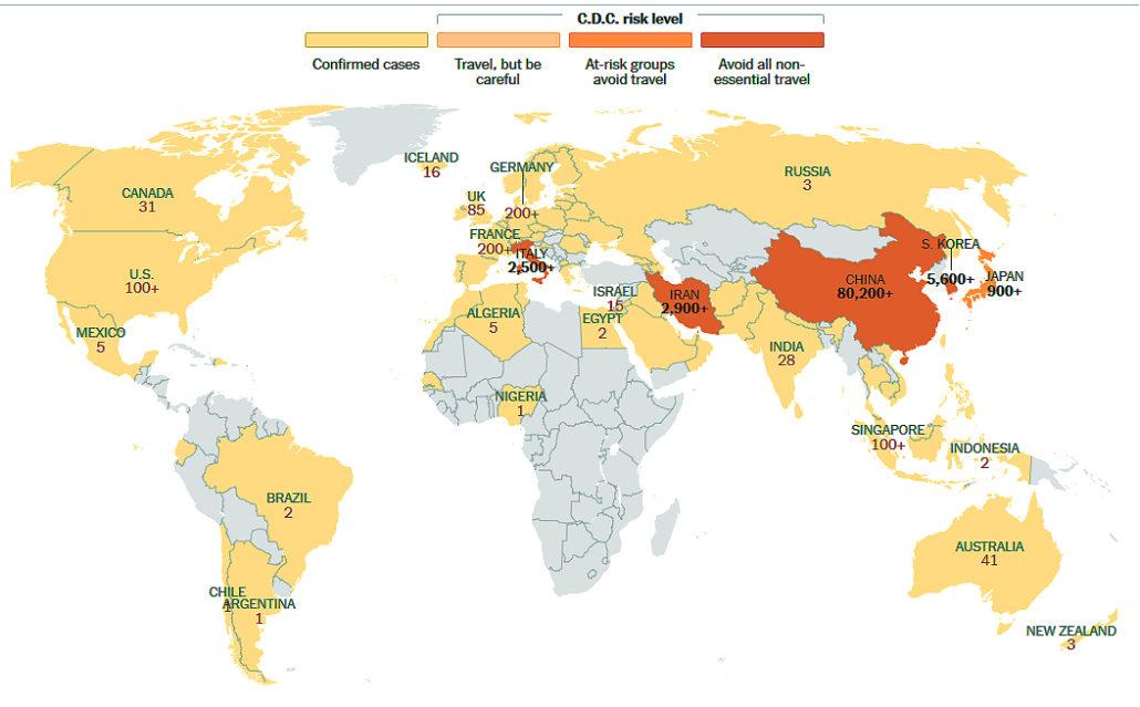 Cdc Cornavirus Map 3 4 20