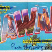 Hawaii Virus Greeting Card
