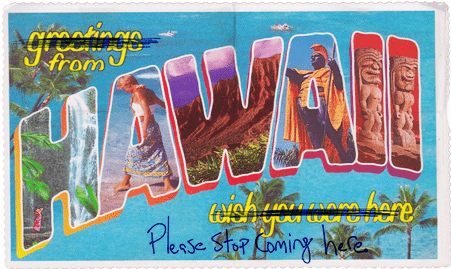 Hawaii Virus Greeting Card
