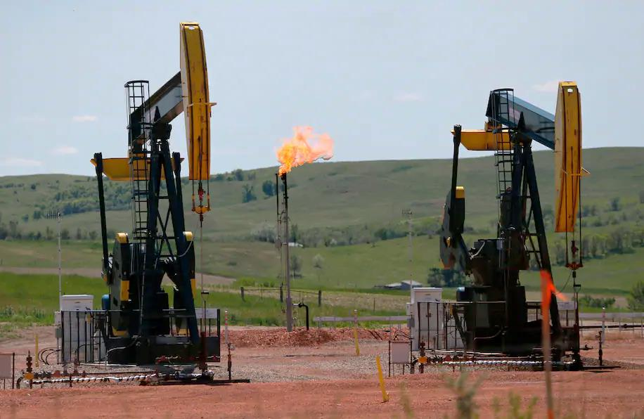 Methane Flare Off